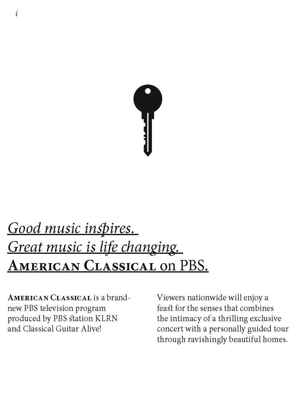 American Classical booklet